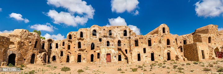 Ksar Ouled Abdelwahed at Ksour Jlidet village - Tataouine Governorate, South Tunisia