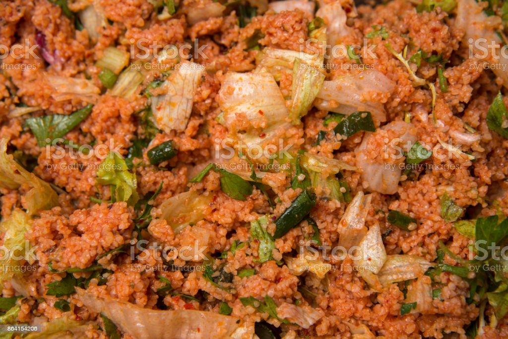 Kısır-Bulgur Salad royalty-free stock photo
