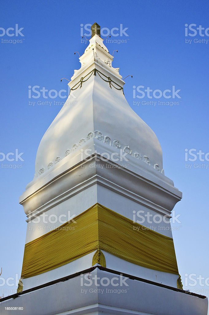 Ku Jan Chedi in the temple royalty-free stock photo