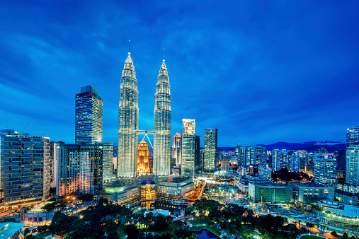 Kuala Lumpur at dusk