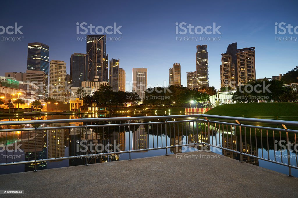 Kuala Lumpur city downtown stock photo