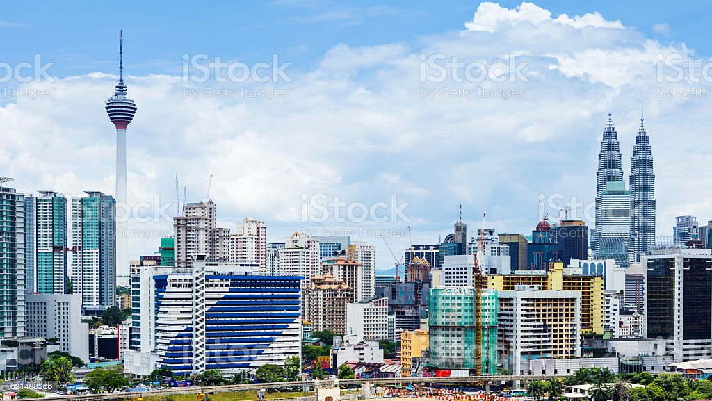 Panorama urbain de Kuala Lumpur photo libre de droits