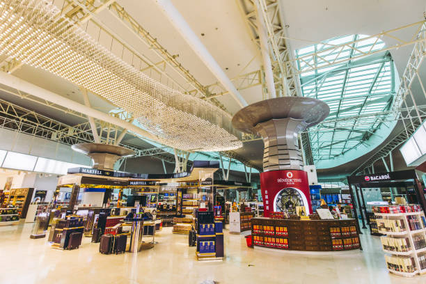 Kuala Lumpur International Airport Kuala Lumpur,Malaysia - May 18,2018 -  Kuala Lumpur International Airport is a leading Asia's aviation hub. Situated in the Sepang district, it is approximately 50km from the capital city of Malaysia, Kuala Lumpur. kuala lumpur airport stock pictures, royalty-free photos & images