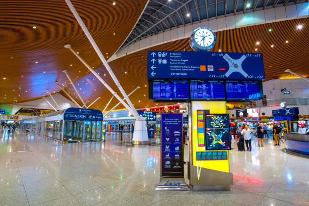 Kuala Lumpur International Airport Kuala Lumpur, Malaysia - May 24 2018: Kuala Lumpur International Airport  is Malaysia's main international airport and one of the major airports in Southeast Asia kuala lumpur airport stock pictures, royalty-free photos & images