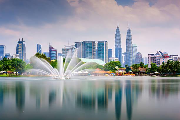 Kuala Lumpur Park Skyline stock photo