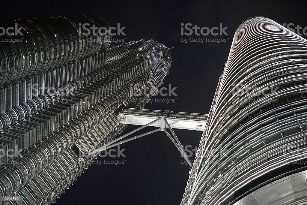 Kuala Lumpur, Petronas Twin Towers in Malaysia royalty-free stock photo