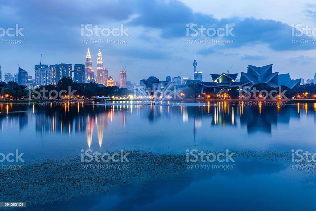 Kuala Lumpur skyline, Malaysia stock photo
