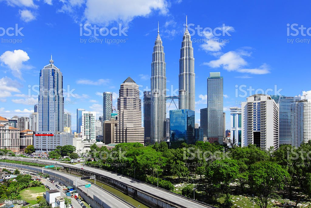 skyline di Kuala Lumpur foto stock royalty-free