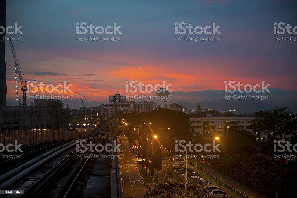 Kuala Lumpur Sunset stock photo