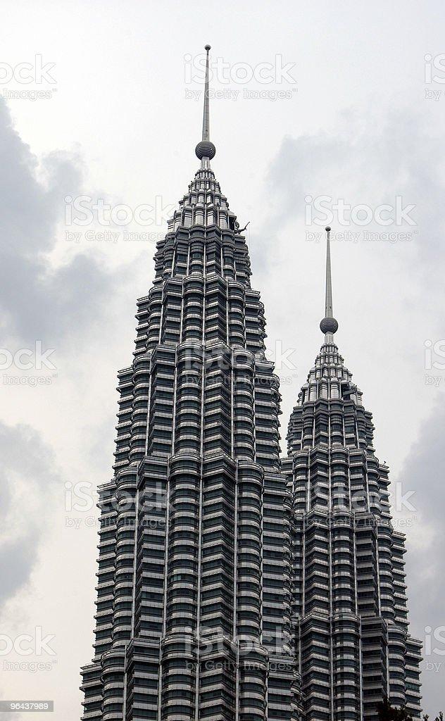 Kuala Lumpur Twin Towers - Royalty-free Architectuur Stockfoto