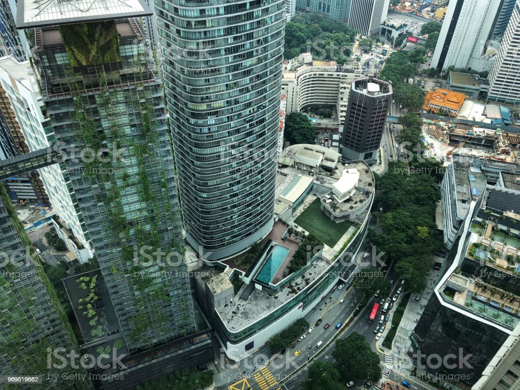 Kuala Lumpur View From Klcc Building At Day Stock Photo
