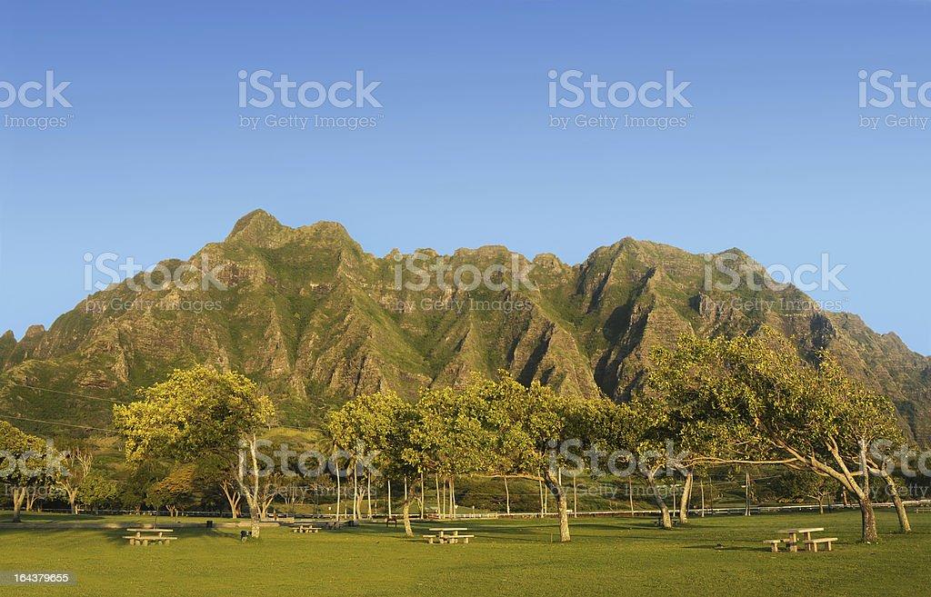 Kualoa Regional Beach Park, Hawaii stock photo