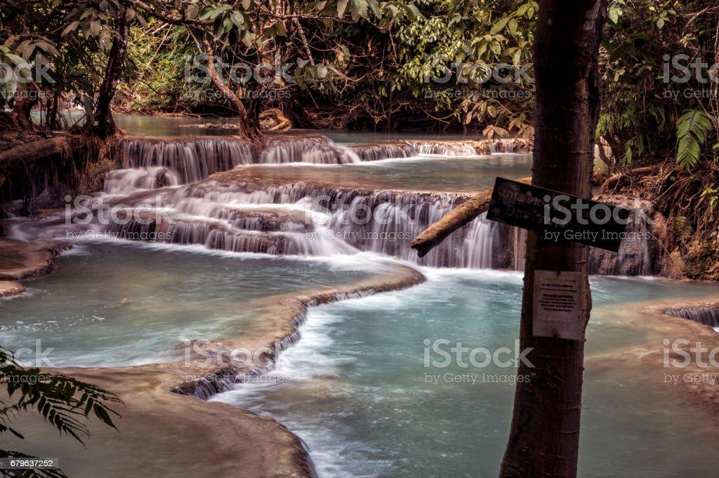 Kuang Si Waterfalls, Luang Phrabang, Laos. royalty-free stock photo
