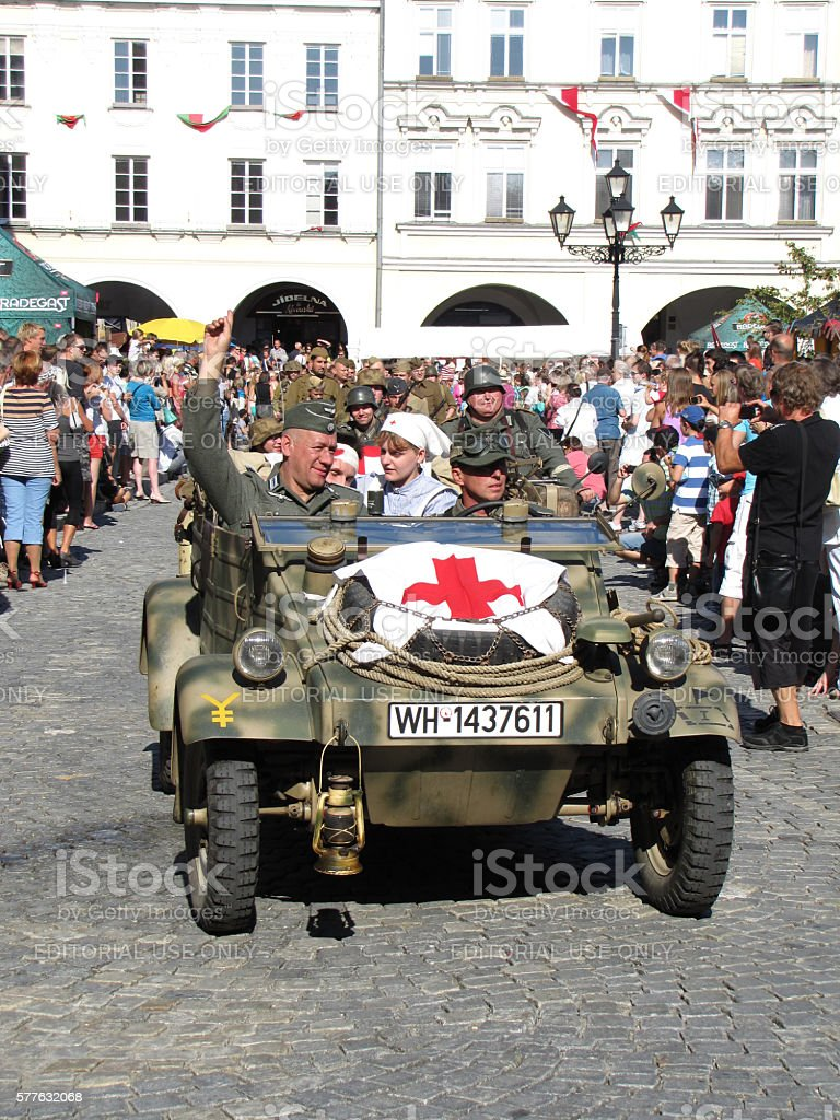 KDF 82 Kubelwagen  with red cross (ambulance) stock photo