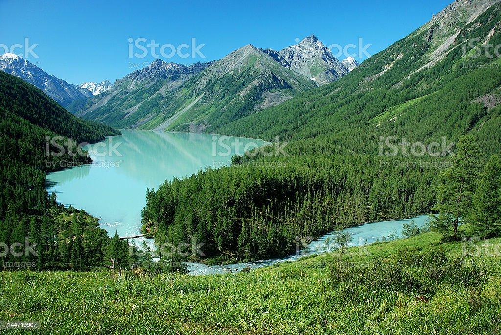 Kucherlinskoe lake, Altai stock photo