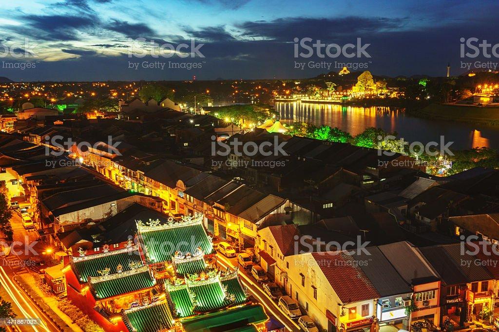 Kuching Sarawak City Center at Dawn stock photo