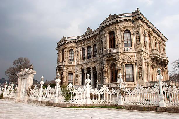 Kucuksu Pavilion in Istanbul stock photo
