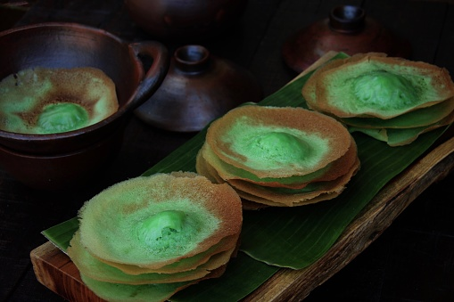 Kue Ape Pandan, the Traditional Coconut Milk Pancake from Betawi, Jakarta