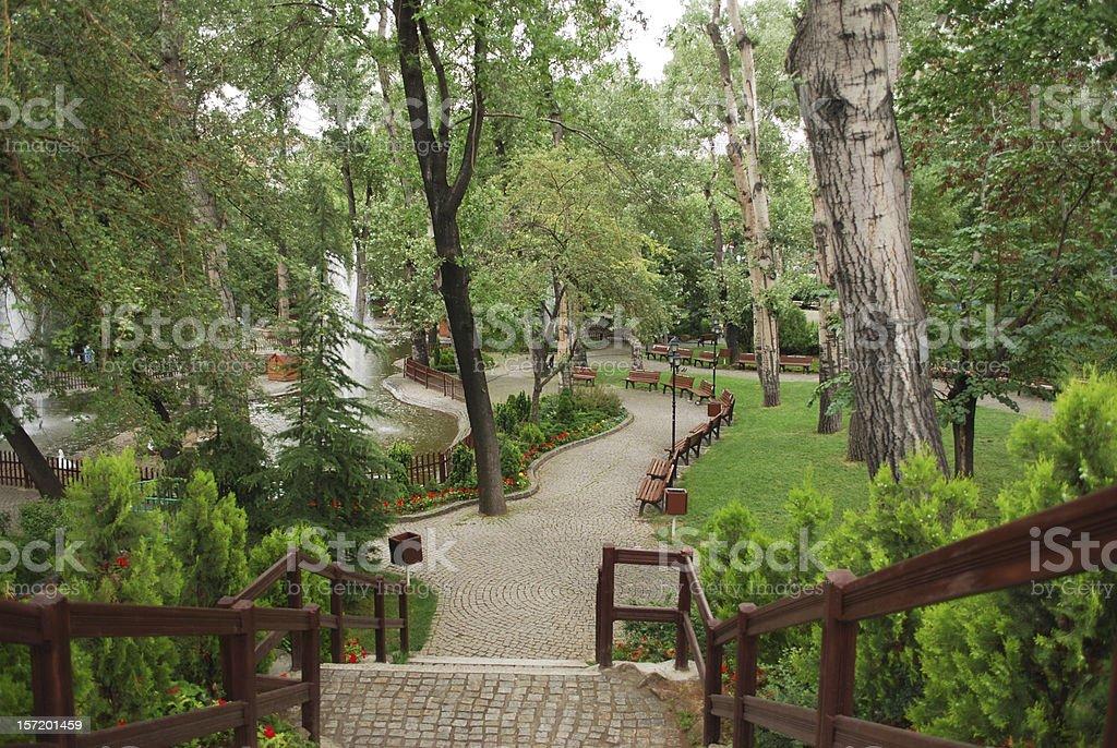 Kugulupark (Park de Ankara cisnes) - foto de stock
