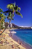 USA, Hawaii, Oahu, Kuhio Beach in Waikiki
