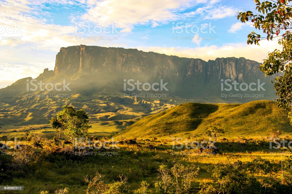 Kukenan Tepui, Venezuela stock photo