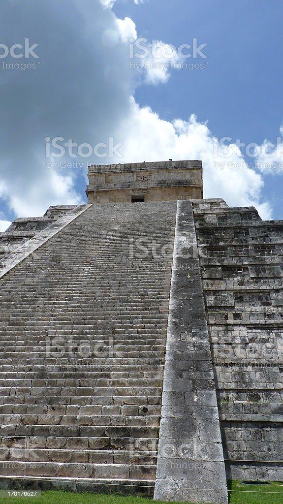 Kukulkan pyramid in Chichen Itza royalty-free stock photo