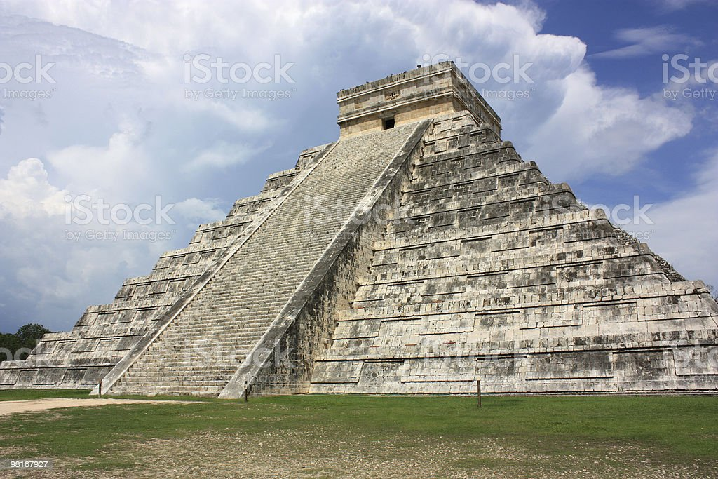 Kukulkan's Pyramid royalty-free stock photo