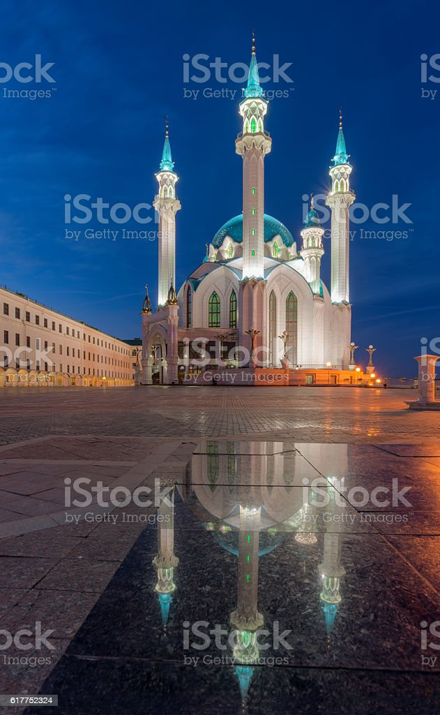 Kul Sharif mosque. Kazan city, Tatarstan, Russia. Beautiful and exquisite stock photo