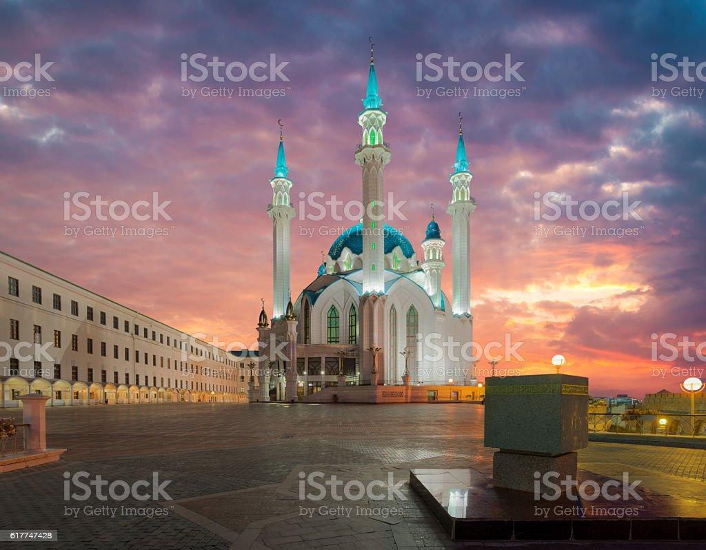 Kul Sharif mosque. Kazan city, Tatarstan, Russia. Beautiful and sophisticated stock photo