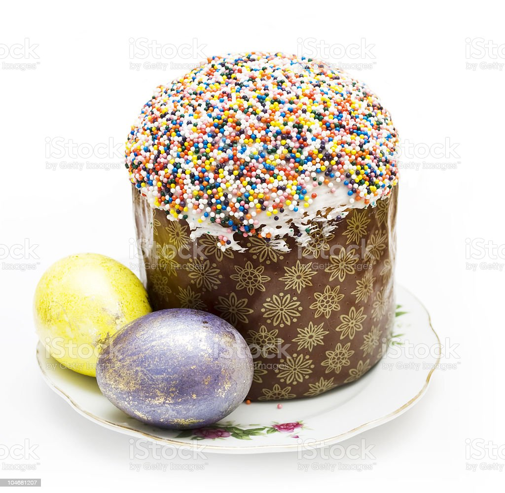 kulich  and egg royalty-free stock photo