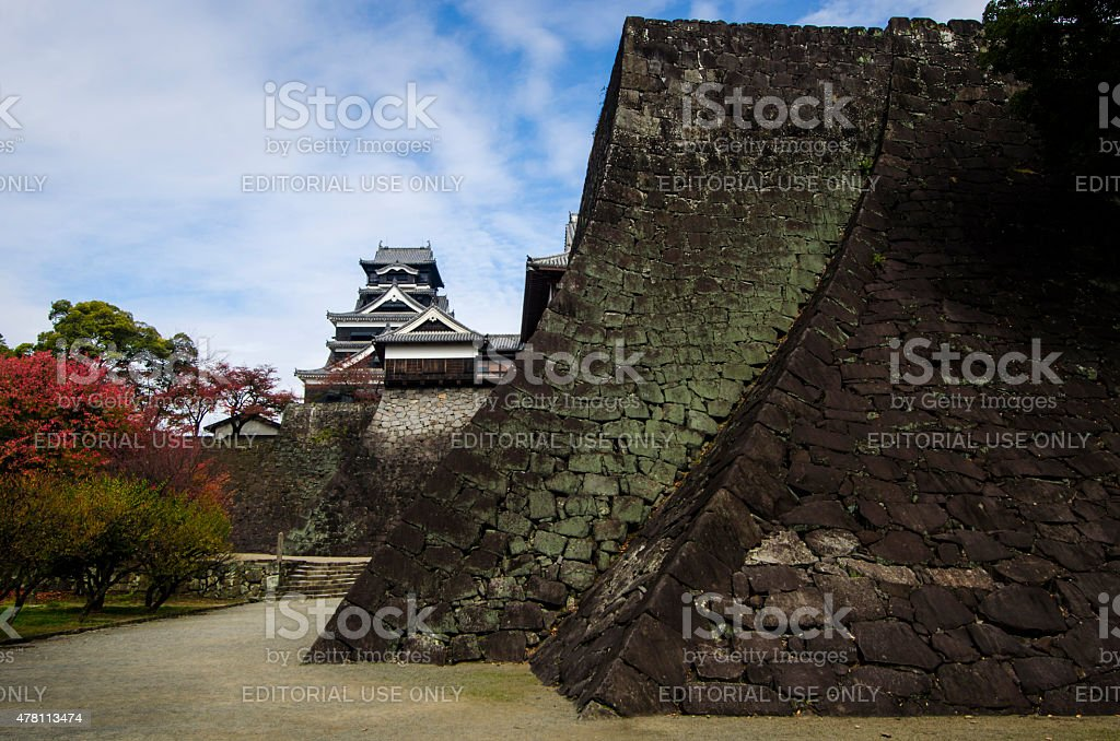 Kumamoto Castle In Autumn stock photo