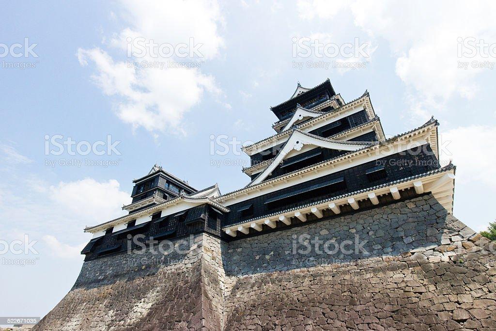 Kumamoto Castle in Kumamoto Japan stock photo