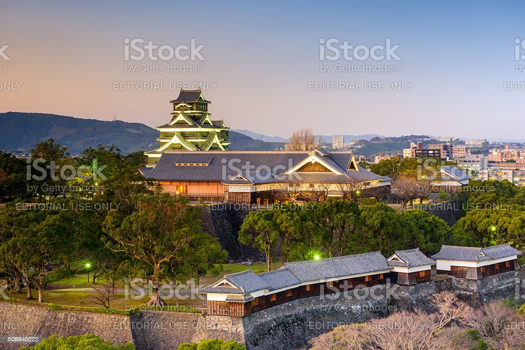 Kumamoto Castle, Japan stock photo