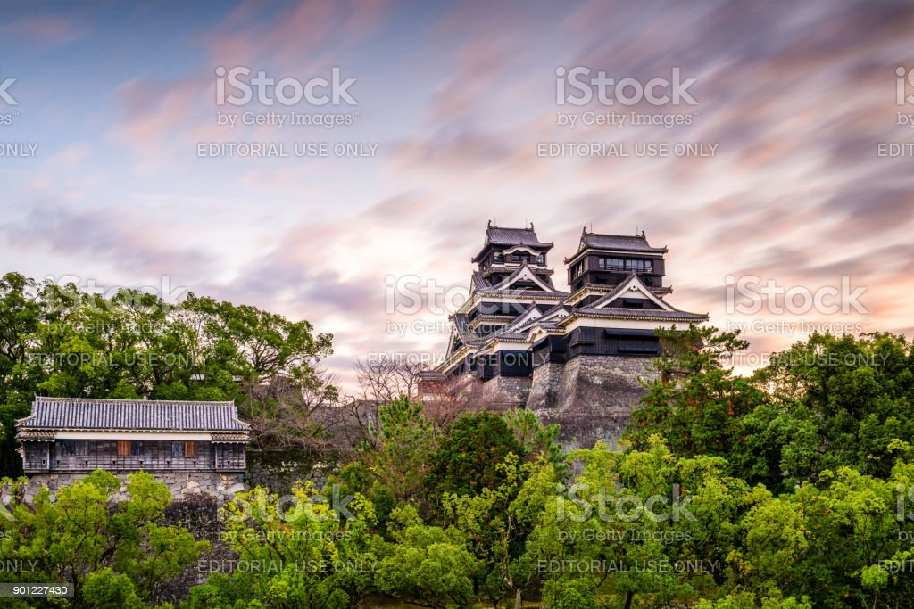 Kumamoto Castle Japan stock photo