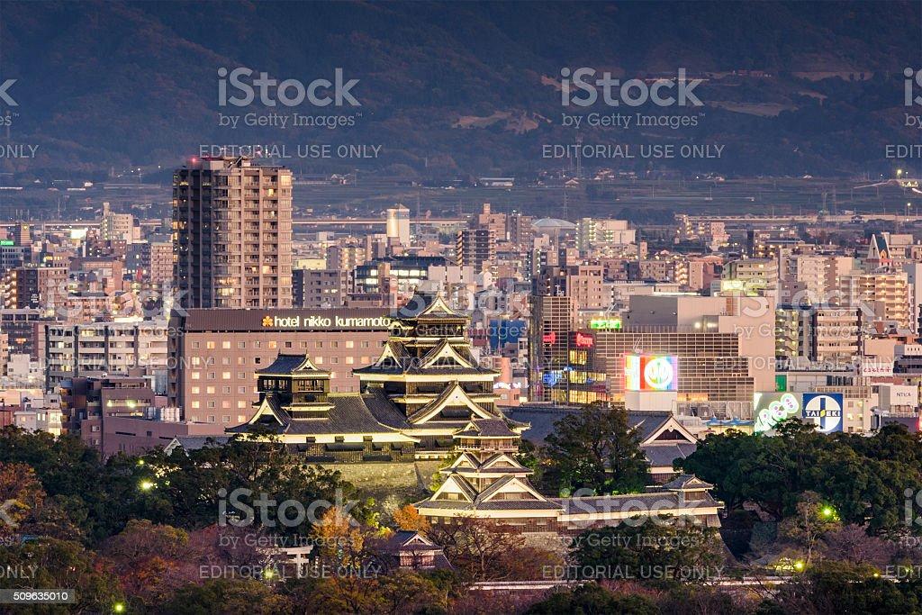 Kumamoto Downtown Cityscape stock photo