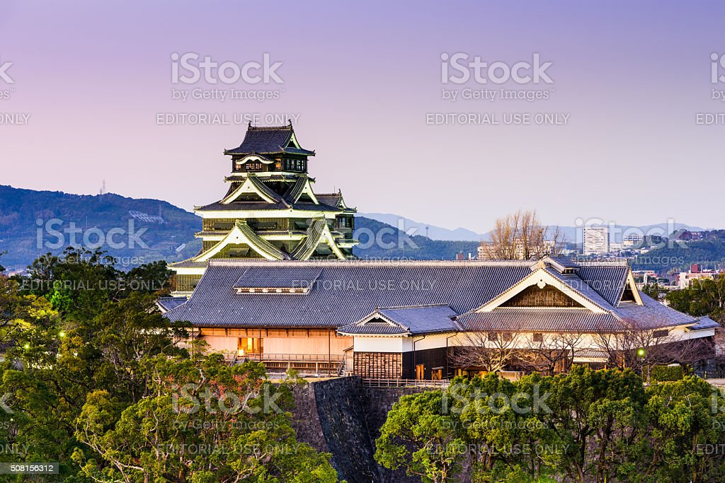 Kumamoto, Japan Castle stock photo