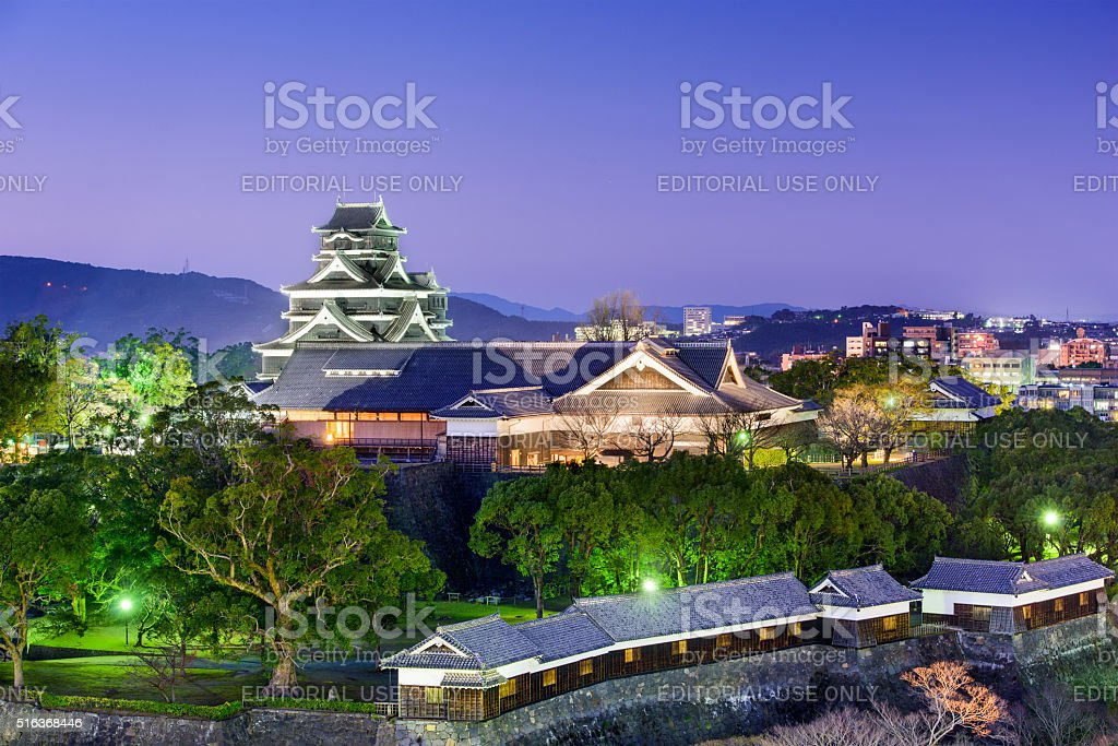 Kumamoto Japan Castle stock photo