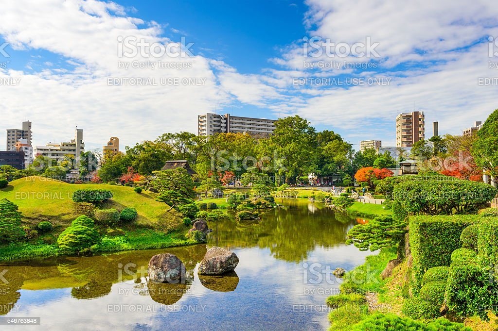 Kumamoto Japan Gardens stock photo