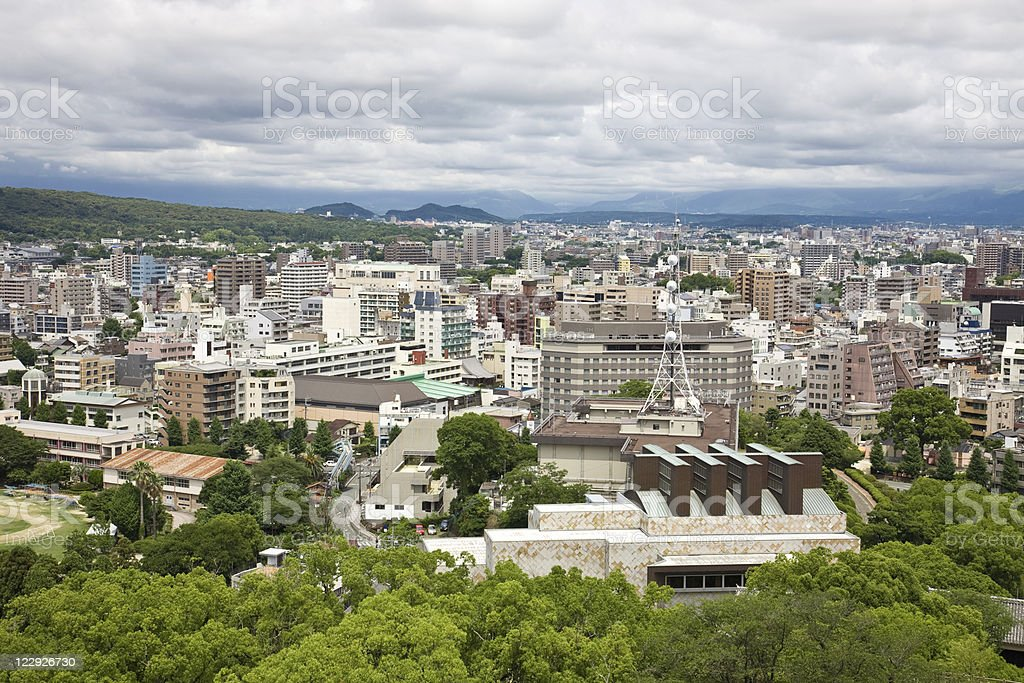 Kumamoto,a medium-sized city in Japan stock photo