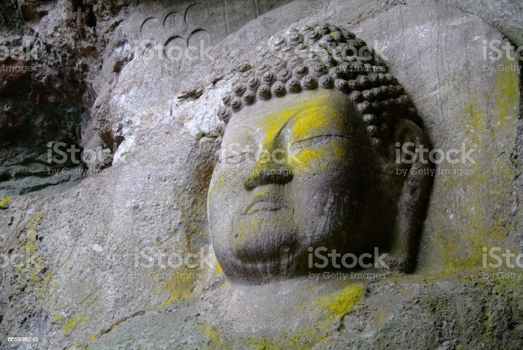 Kumano I Cliff Buddha foto stock royalty-free