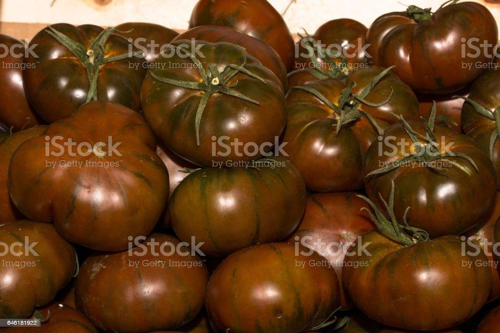 kumato tomato stock photo