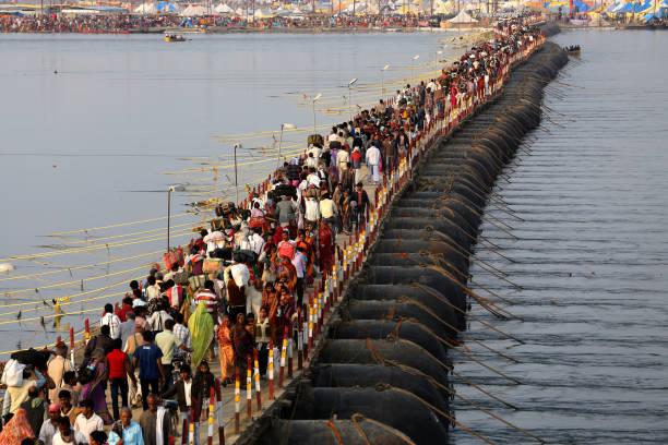 Kumbh Mela Festival stock photo