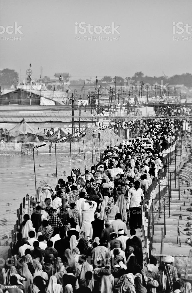 Kumbh Mela in Allahabad stock photo