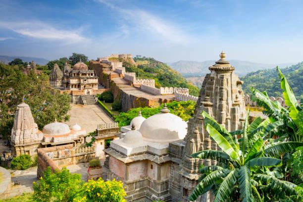 Kumbhalgarh fort in rajasthan, india stock photo
