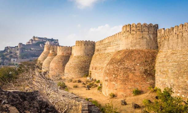 Kumbhalgarh Fort in Rajasthan stock photo