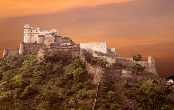Kumbhalgarh Fort Kumbhalgard Fort is a Mewar fortress on the westerly range of Aravalli Hills udaipur stock pictures, royalty-free photos & images
