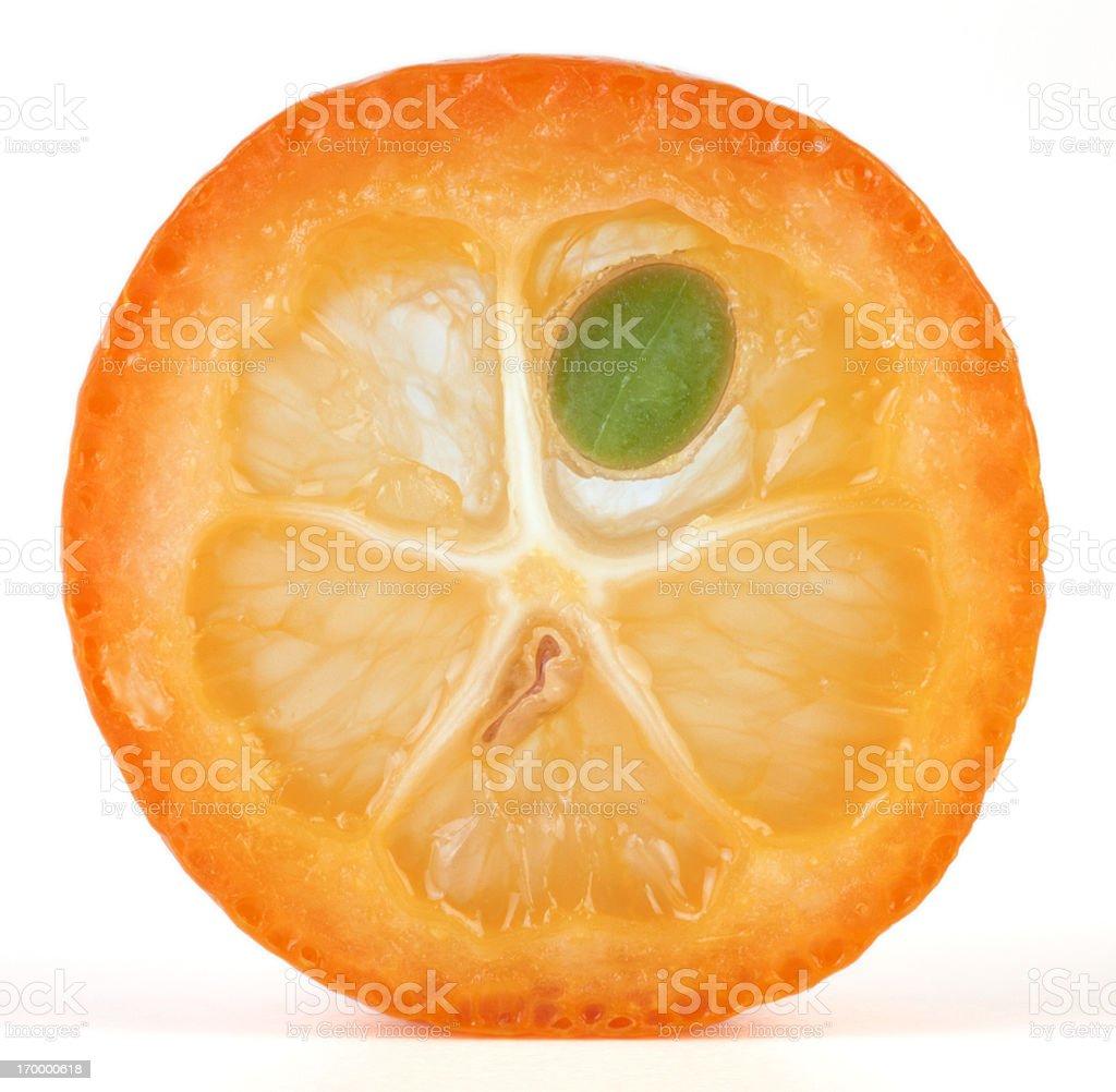 Kumquat cross section stock photo
