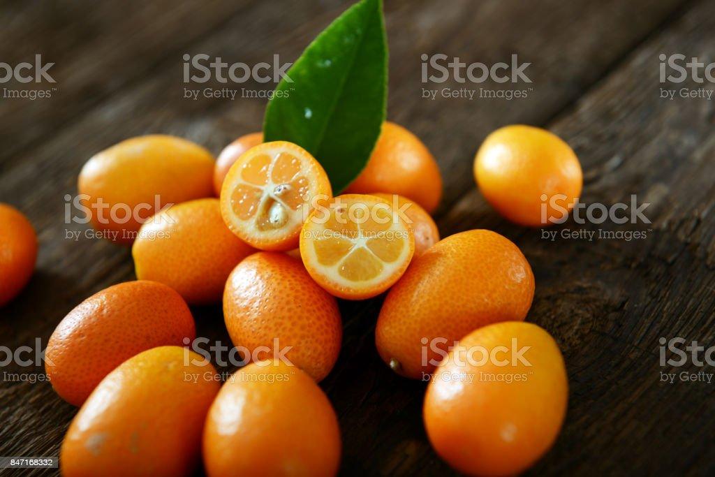 Kumquat fruits stock photo