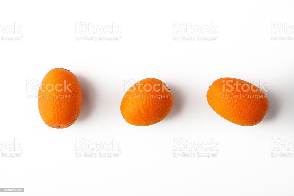 Kumquat auf weißem Hintergrund Lizenzfreies stock-foto