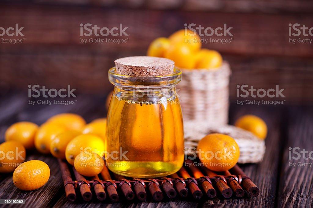 kumqwat oil stock photo